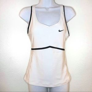 Nike White Racerback Tank Top Nike Fit Dry Small